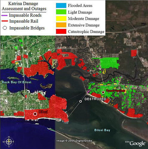 FEMA Katrina Damage Assessment Overlay - Biloxi