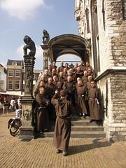 monks celebrating