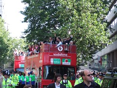 A red bus