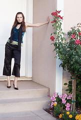 Elizabeth outside