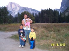orbs with Half Dome in the background