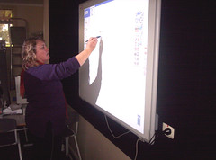 Current staff member using ActivBoard