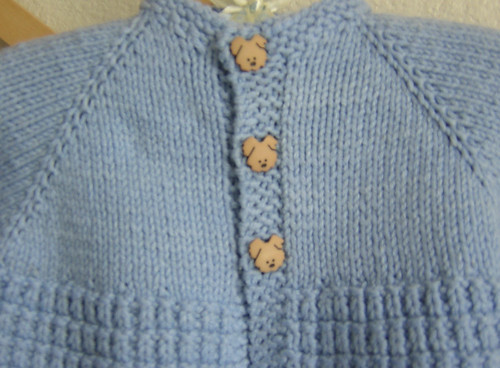 blue sweater buttons