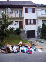 Trash day in Budaörs