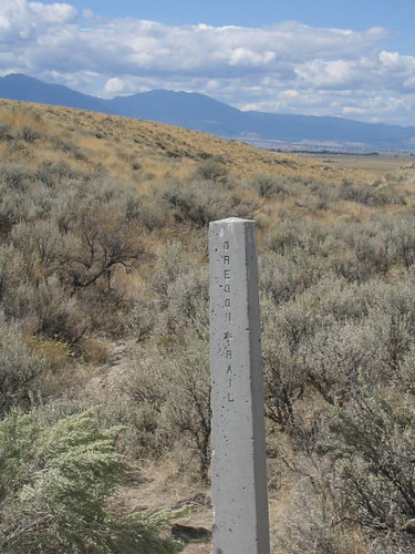 Marker on the Oregon Trail