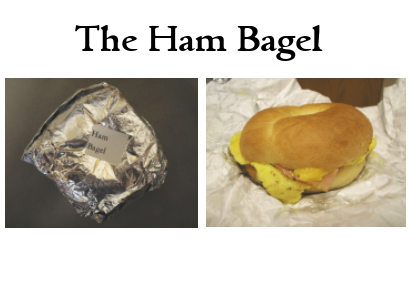 the ham bagel