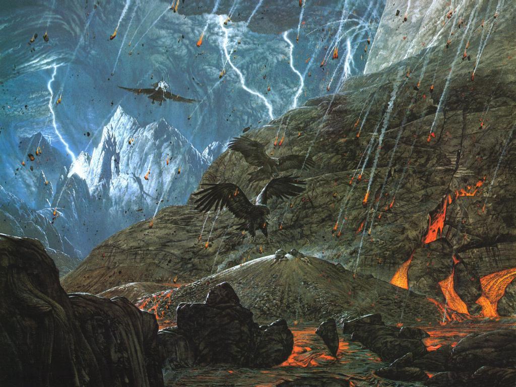 Gwaihir in Mount Doom