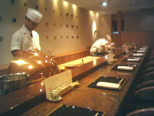 The main counter at Tenshin