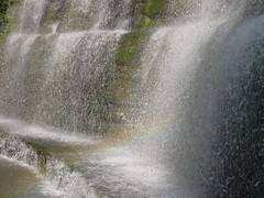 Rainbow in Waterfall photo by Velachery Balu