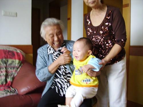 My grandma and my nephew