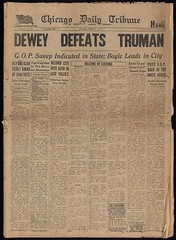 Chicago Daily Tribune Dewey defeat truman
