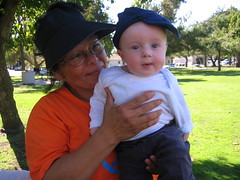 Nanny and Oliver in the park