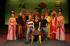 Robbie, Eva & Roger with Sichuan Opera Performers