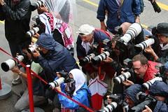 Many cameramen were aiming Ralf Schumacher