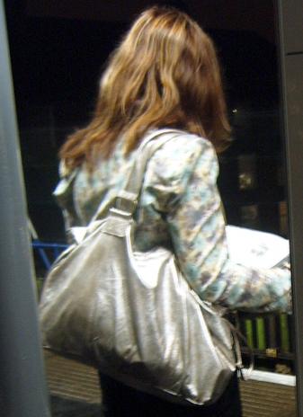 Metallic Bag Woman Close Up