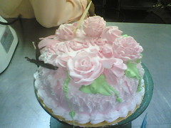 strawberry cake - senang jek beb wat bunga tuh