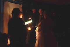 Wedding ceremony in a planetarium