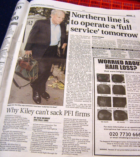 Northern Line Full Service & Bob Kiley can't sack contractors