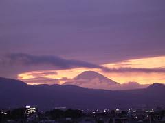 Evening of Mt. Fuji