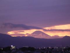 Evening of Mt. Fuji