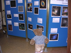 Felicia checking out posters at the UMD observatory
