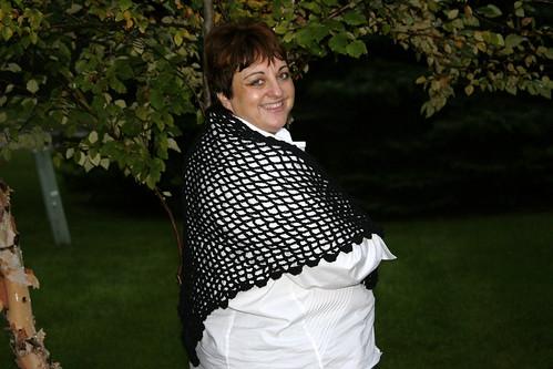 trellis shawl for mom - side