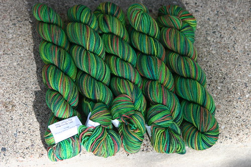 koigu - greens - 5 hanks