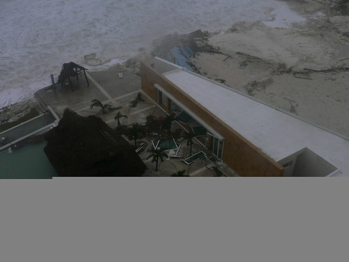 Wilma Battered Cancun Hotel Zone Oct. 22