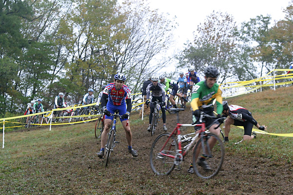 Slippery hill lap 1