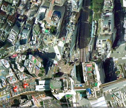 Shibuya par Google Earth