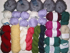 Knitsmiths swap goodies