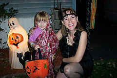 A Indian Princess and Flapper Halloween