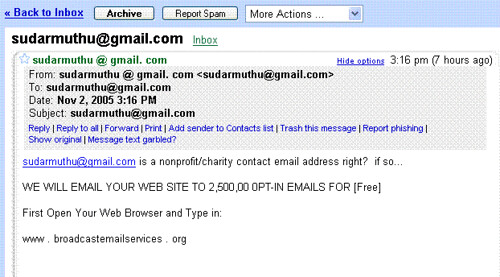 funny spam email