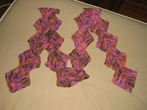 M scarf for Megann