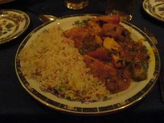 Chicken Bhuna with Pilau Rice at Omar Khayyam, Edinburgh