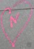 N in a heart
