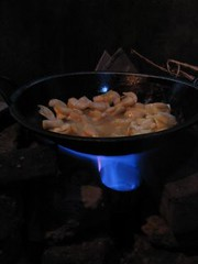 Gambar 33: Api biru biogas.