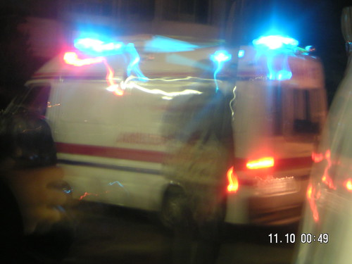 Ambulance Responds to Amman Bombings