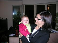 Inês com a Tia Cristina