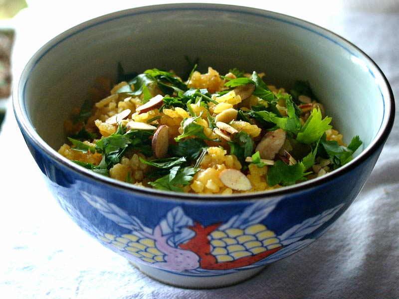 curried apple pilaf
