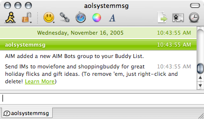 AIM Hijacks My Buddy List