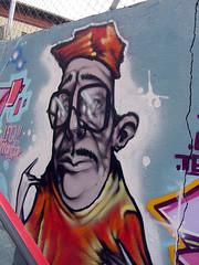 graffiti del bigote