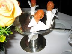 Salmon Tartare Coronet with Crème Fraiche