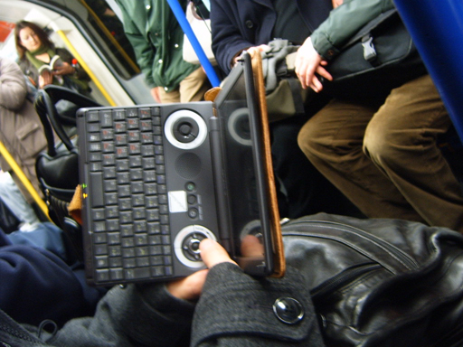 Gadget Man - Interesting e-reader on the Tube