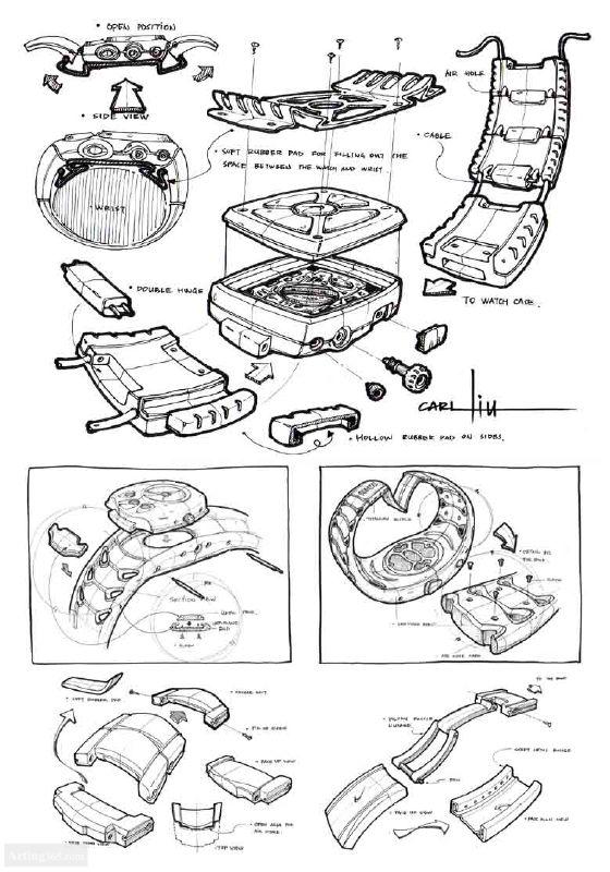 工业产品手绘图-手表设