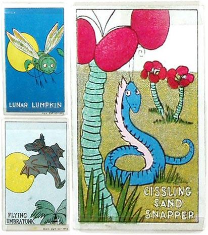 Lunar Lumpkin, Cissling Sand Snapper, Flying Umbratunk.