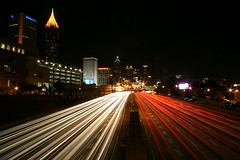 Atlanta at Night, From the 5th Street Bridge photo by HamWithCam