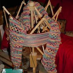 Brooks Farm Silk/Wool Handpainted Yarn Scarf