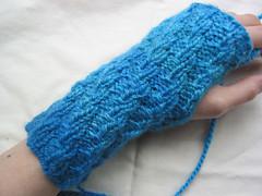 Blue Biffle Wristwarmers