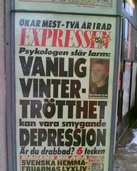 Smygande DEPRESSION kan vara VANLIG vintertrötthet